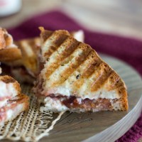 Strawberry, Goat Cheese, and Bacon Panini