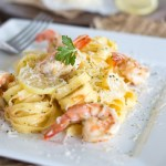 Brown Butter Shrimp Scampi