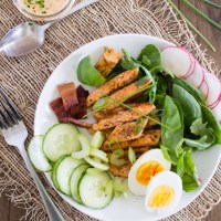 Buffalo Chicken Cobb Salad {with Buffalo Ranch Dressing}