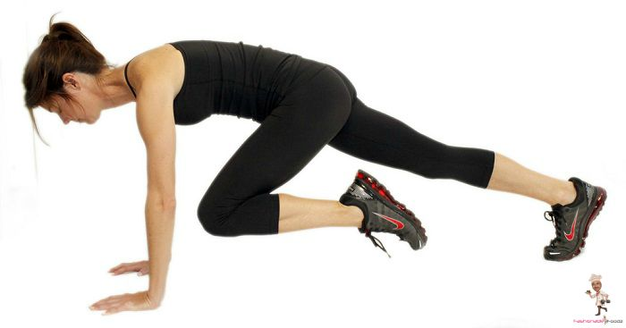 Plank Variations - Twisted Knee Plank