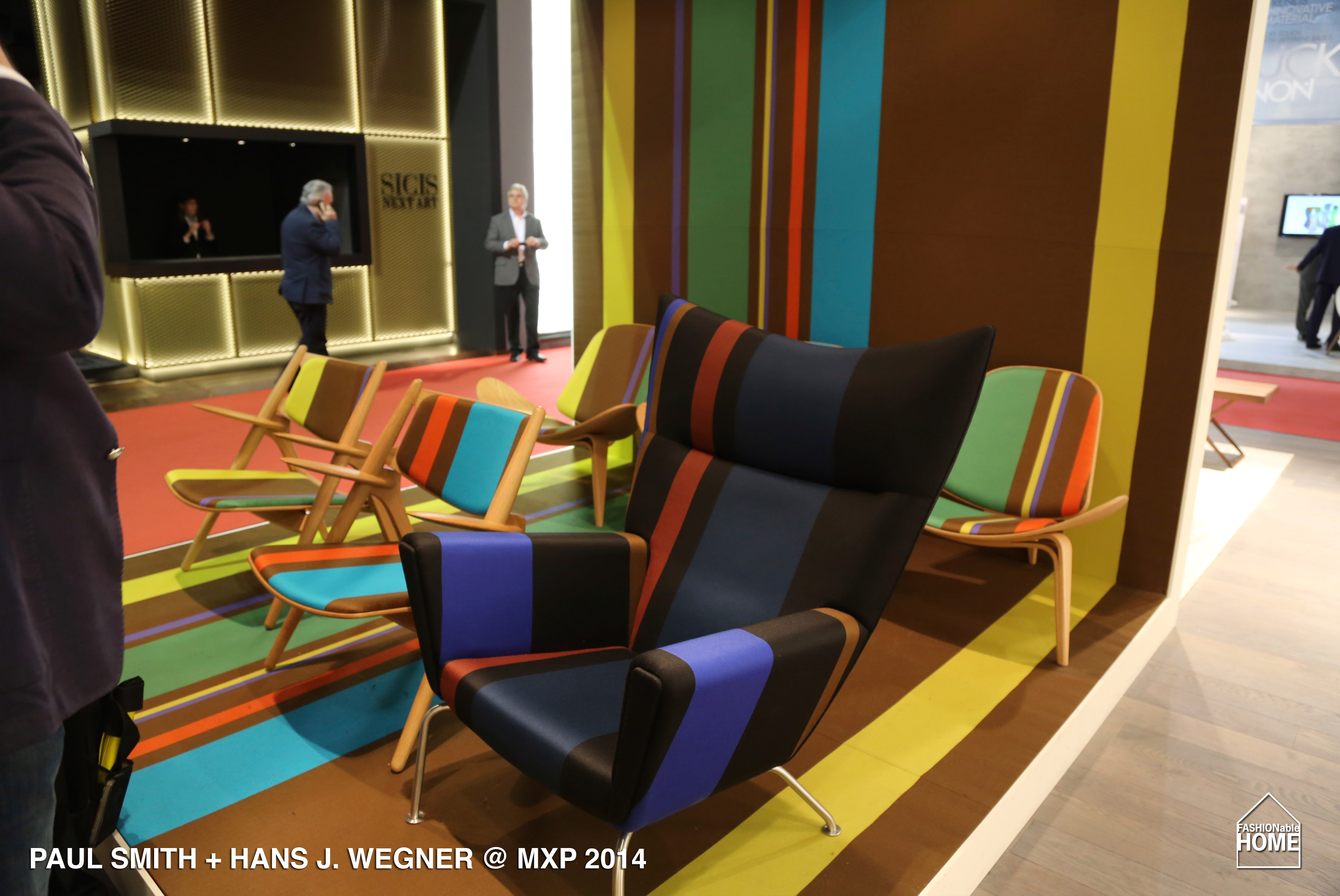 fabrics for chairs striped kidkraft highlighter table and paul smith + hans j. wegner @ milano 2014 | fashionable home blog