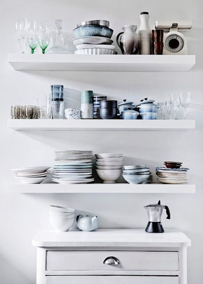 shelves for kitchen lowes cabinets in stock diy white floating fashionable hostess