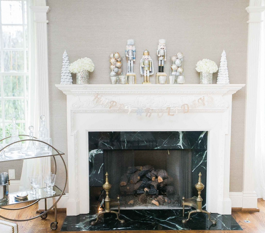 Decorate your Fireplace Mantel for the Holidays  Fashionable Hostess