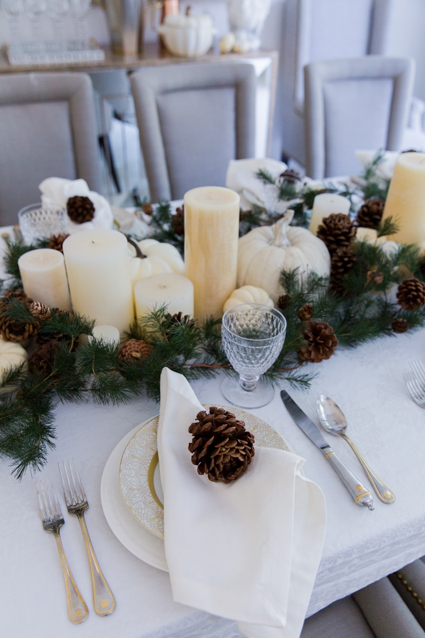 Thanksgiving Garland  Candle Centerpiece  Fashionable