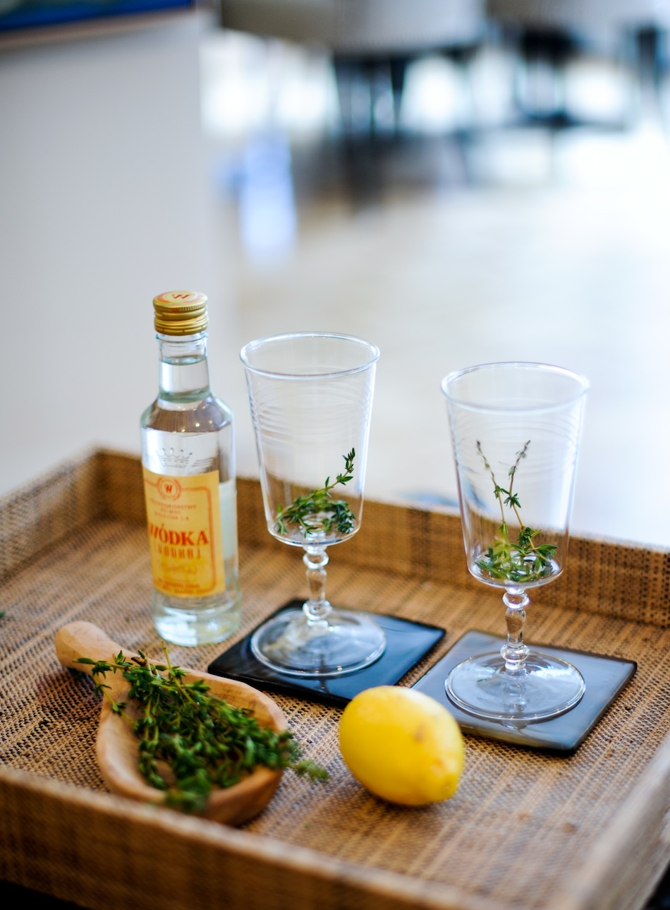 Vodka Thyme Lemonade Cocktail  Fashionable Hostess