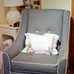 Pottery Barn Baby Rocking Chair Chippendale Dining Girl's Pink Nursery - Fashionable Hostess
