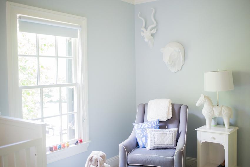 navy rocking chair eames lounge craigslist nashville baby nursery - fashionable hostess