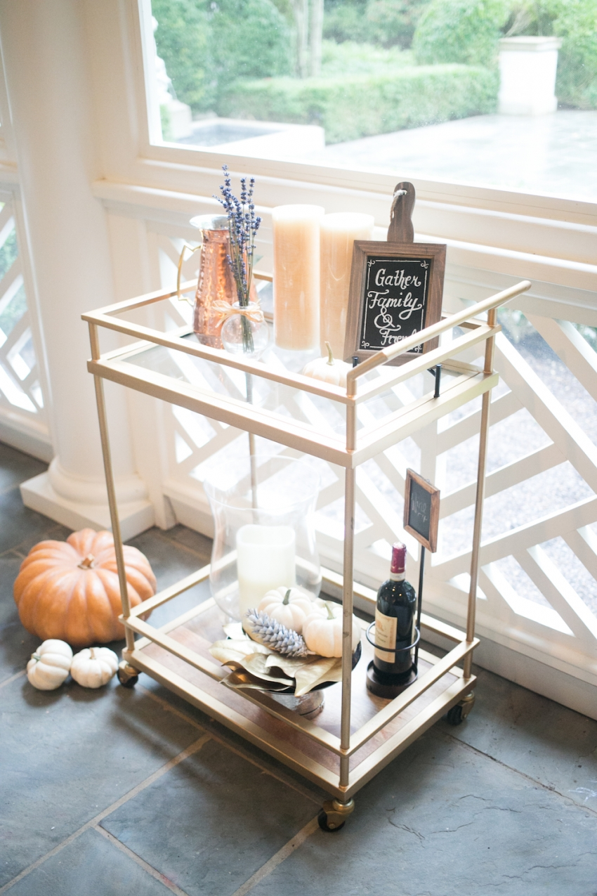 kitchen table nook modern light fixtures decorate your bar cart for fall - fashionable hostess