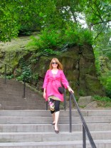 carmen on stairs in park 2