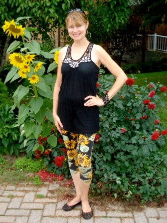 sunflower capris