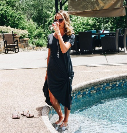 Cute Summer Dresses for Moms featured by top Pittsburg mom fashion blog, Fashionably Late Mom. - Amazon Maxi Dress