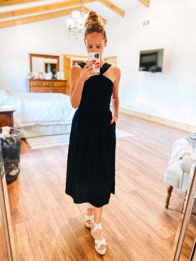 Cute Summer Dresses for Moms featured by top Pittsburg mom fashion blog, Fashionably Late Mom. - target midi dress