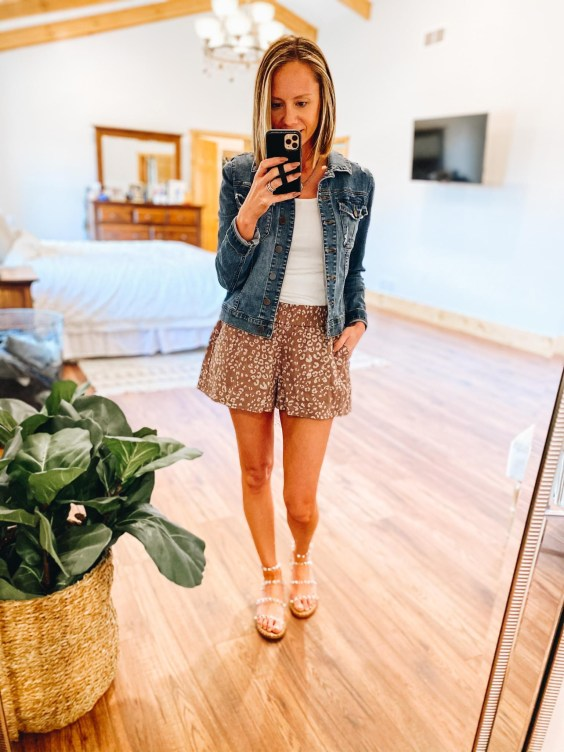 3 Pairs of Pull on Shorts for Women from Target featured by top Pittsburgh fashion blogger, Fashionably Late Mom