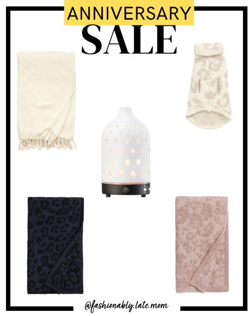 2021 Nordstrom Anniversary Sale, Barefoot Dreams throw, diffuser, Nordstrom throw, nsale | Nordstrom Anniversary Sale Preview by popular Pittsburgh fashion blog, Fashionably Late Mom: collage image of Nordstrom blankets and oil diffuser.