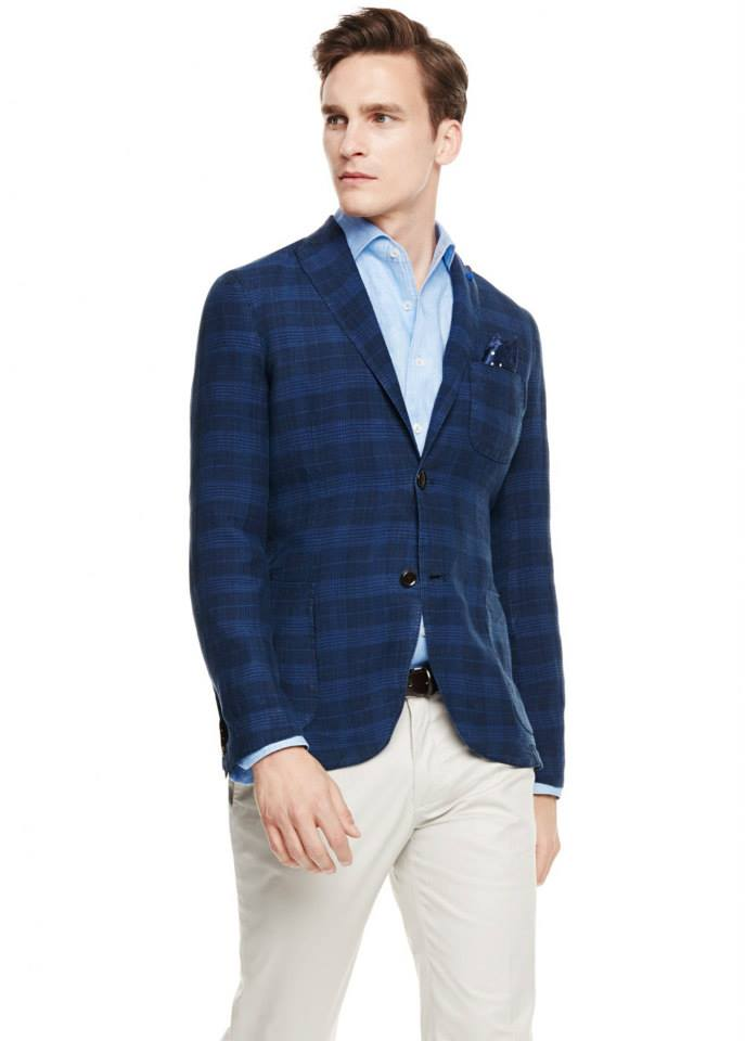 Slim-fit partially lined check linen blazer SHOP NOW >> http://mng.us/1iqQnQP
