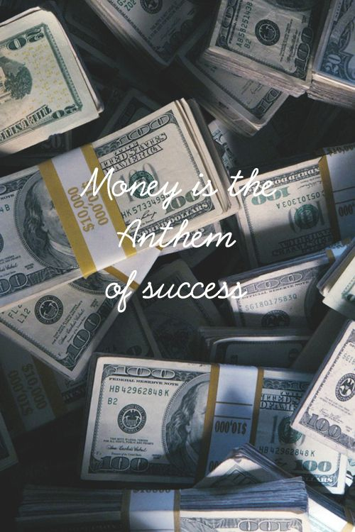 Money is the Anthem of Success by Fashionably Male