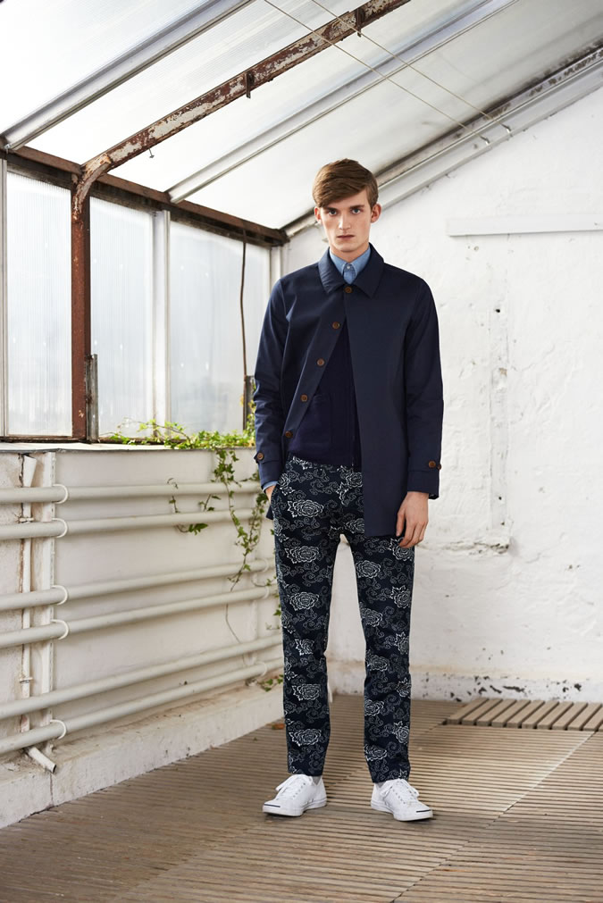 GANT Rugger taps Swedish model Charlie Westerberg to sport looks from its fall/winter 2014 collection. Here, the utilitarian nature of GANT is married to a stylish knack for layering. Semi-slit fits are executed, contributing to a solid lineup of parka jackets, pinstripe suiting, vests, the mac jacket and other menswear items. Offering a spectrum of autumnal colors and subtle prints, separates for mixing and matching are the season's strong suit.