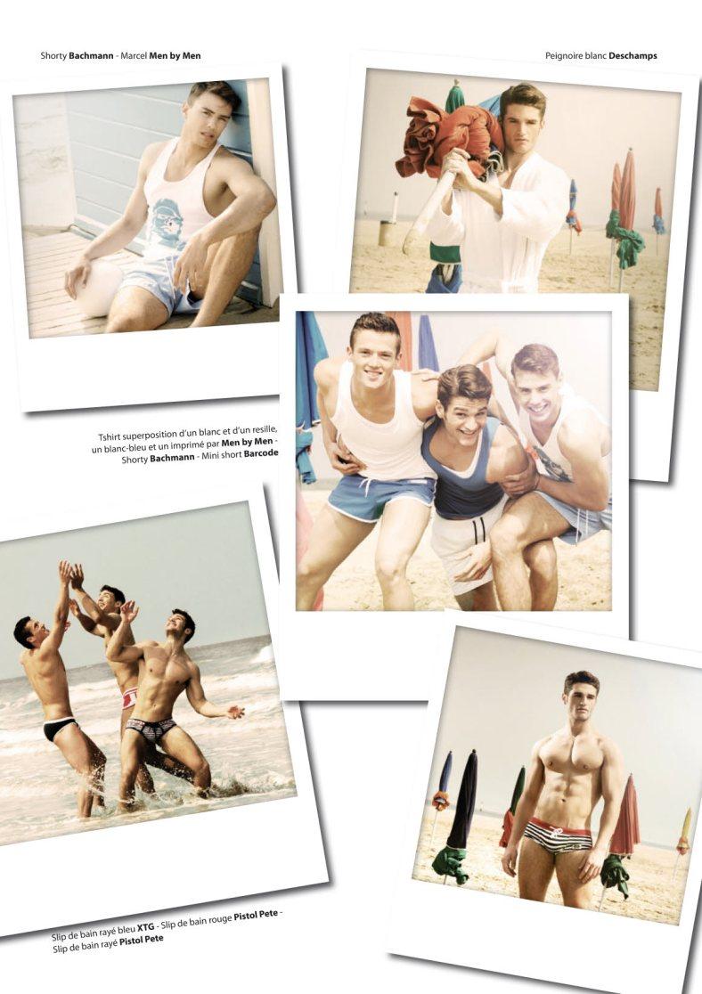 Photography by Fred Goudon, modèles Baptiste Giannesini (Chez VIP Modèles), Sébastian Bechad (Chez VIP Modèles), Florien Bou sportif à l'Insep