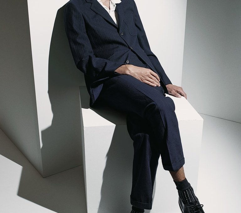 New York Times Style Magazine Photograph by Robbie Fimmano Styled by Jason Rider Model: Gustaaf Wassink at Fusion Models Casting director: Arianna Pradarelli Hair by Kenshin Asano at L'Atelier NYC using Oribe Hair Car Makeup by Asami Taguchi for Frank Reps Tailor: Dexter John at Lars Nord Studio Stylist's assistant: Alex Tudela Shot at Outpost Studio