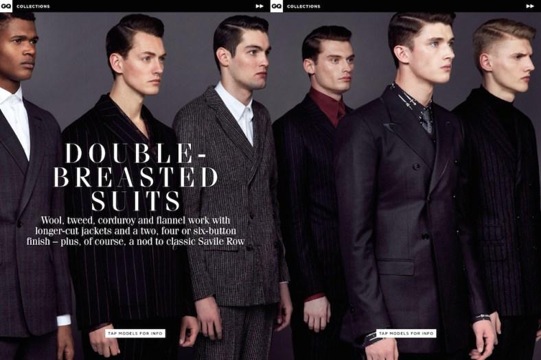 GQ UK ph: Blair Getz Mezibov models: O'Shea Robertson, Harrison Griffith, Josh Wicks, Matthew Holt, Charlie Jones and Jakob Hybholt