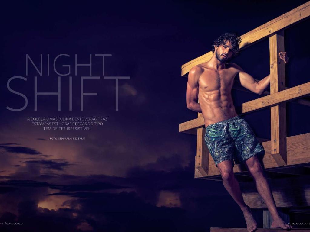 """Night Shift""   Summer 2015 Magazine - Água de Coco por Liana Thomaz"