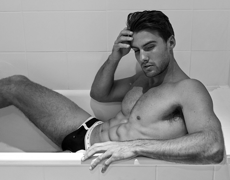 Australian fashion photographer Paul Fitzgerald shot this collection of images of sexy Australian model, Mitchell Wick (Chadwick Models). Mitchell posed effortlessly on a lazy Sunday morning allowing Paul Fitzgerald to capture his raw masculinity, uninhibited and relaxed.