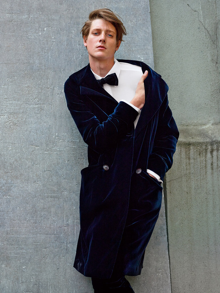 Giorgio Armani jacket, $3,175, and pants, $1,345, (212) 988-9191. Charvet shirt, $550, bergdorfgoodman.com. Dolce & Gabbana bow tie, $275, dolcegabbana.com. Photographs by Matthew Kristall. Styled by Jason Rider