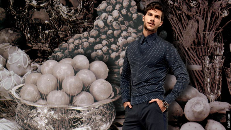 how-to-dress-for-a-family-christmas-party-holiday-looks-with-dolce-and-gabbana-ss-2015-menswear-polkadots-jumper-and-shirt