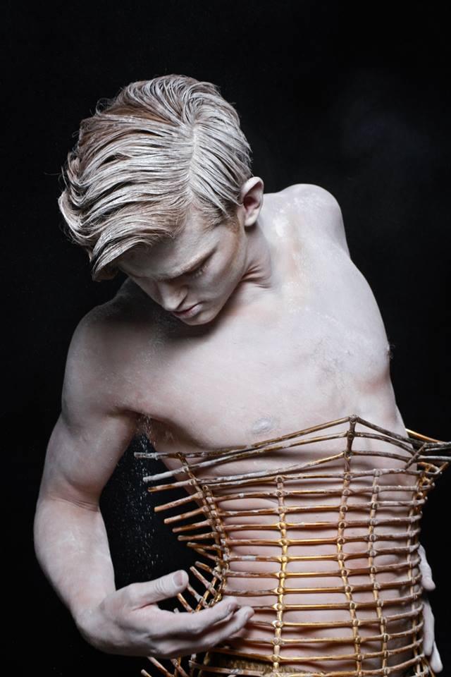 Fallen Angel by Livia Alcalde stars Top Model Sebastian Sauve for L'Officiel Hommes Greece