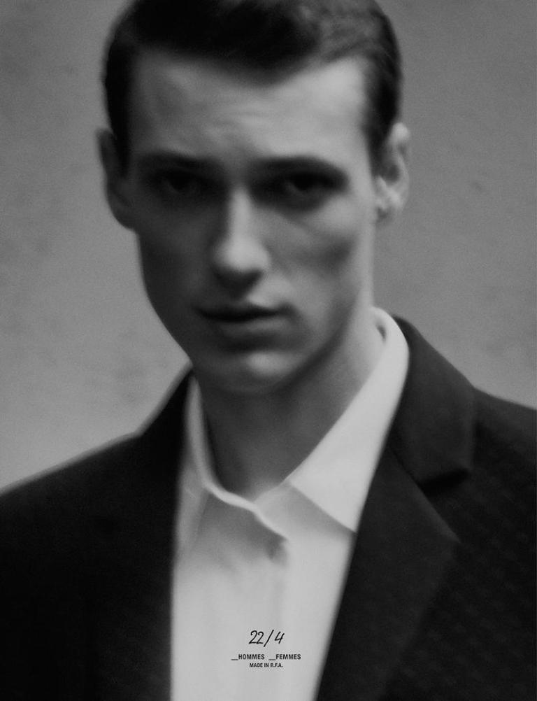 Photography by Stefan Milev Styling by Jason Hughes Hair & Make-up by Ute Hildenbeutel Models Tommaso de Benedictis & Marie All Clothes by 22/4_HOMMES_FEMMES