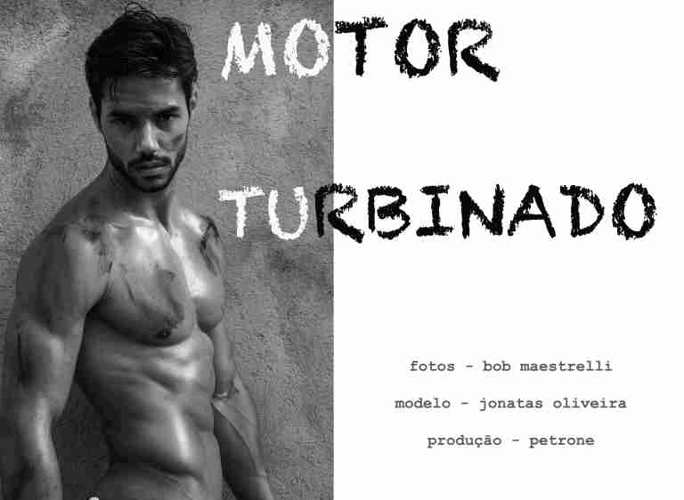 Test with Jonathan Oliveira model (Allure) as a healed and quite dirty mechanic grease clicked by Robson Maestrelli and produced by Petrone. Wardrobe producer acquis.