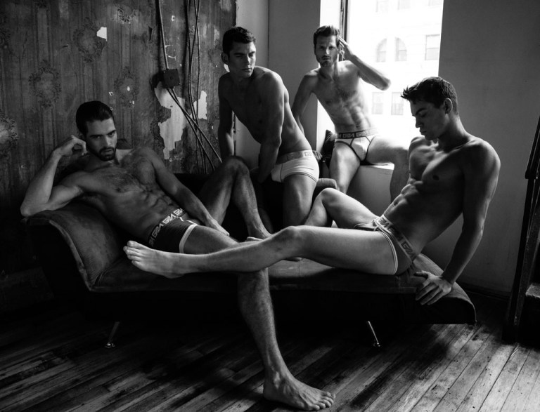 Privé session in an exclusive for Fashionably Male photographed by Andres Pelaez starring by the best promising faces of Adam Models like Peter Ward, Matthew Young, Danny Lang and David Koch all adonis wearing just underwear provided by Garçon Models. This exclusive material may not have been performed without the amazing team as Make Up Artist Sami Rivera for Kevyn Aucoin Cosmetics, hair by Tamara Laureus and Nails by Elizabeth Garcia for MAC Cosmetics.