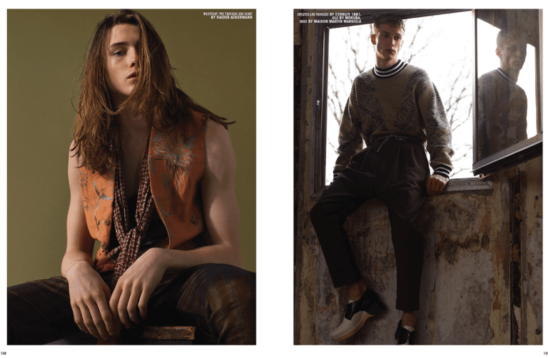 """10 Men Magazine released it Spring 2015 Issue entitled """"Youth"""" photographed by Dario Catellani with Fashion Editor by Hector Castro, starring by models Lucas at Scoop, Jason Ellis at Elite London, Robbi at Tomorrow is Another Day and Willis at Select. Styled in fashion and luxury garments like Versace, Martin Margiela, Calvin Klein, Dries Van Noten, Gucci, Vivienne Westwood, McQ, Lanvin, among others."""