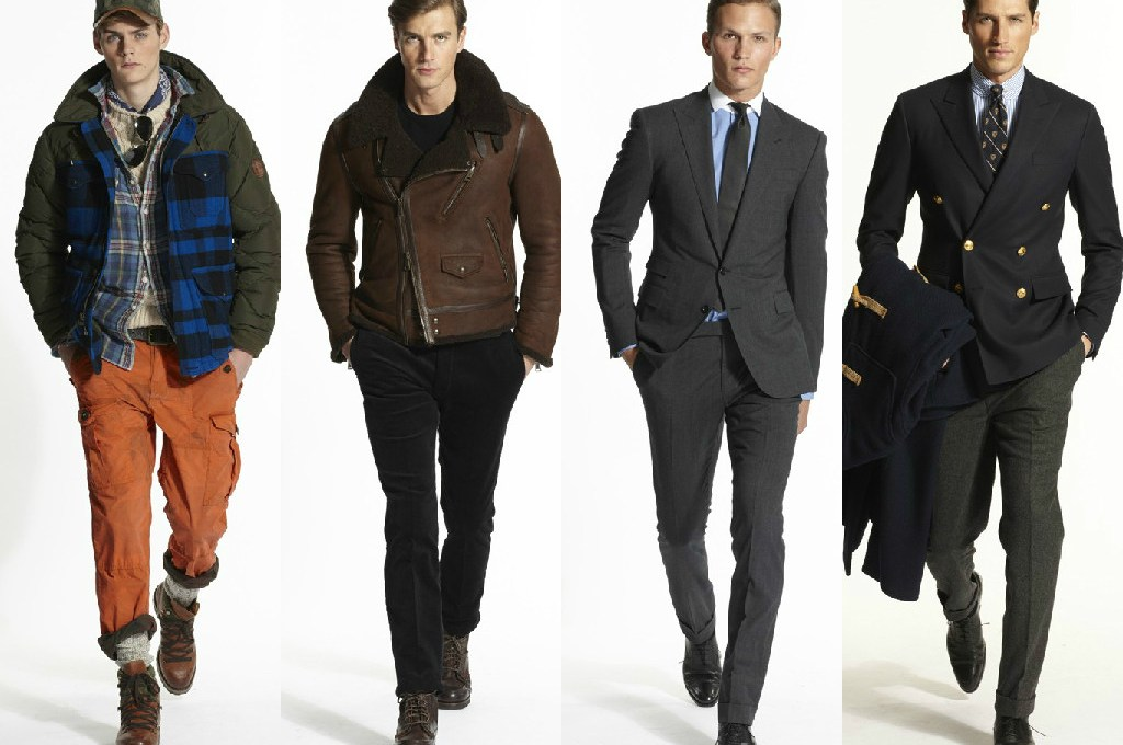 "Holding a presentation during New York Fashion Week, Ralph Lauren offered a glimpse at the upcoming fall season with new looks from Polo Ralph Lauren and Ralph Lauren Purple Label. Ralph Lauren declared Purple Label his ""declaration of masculine elegance."""