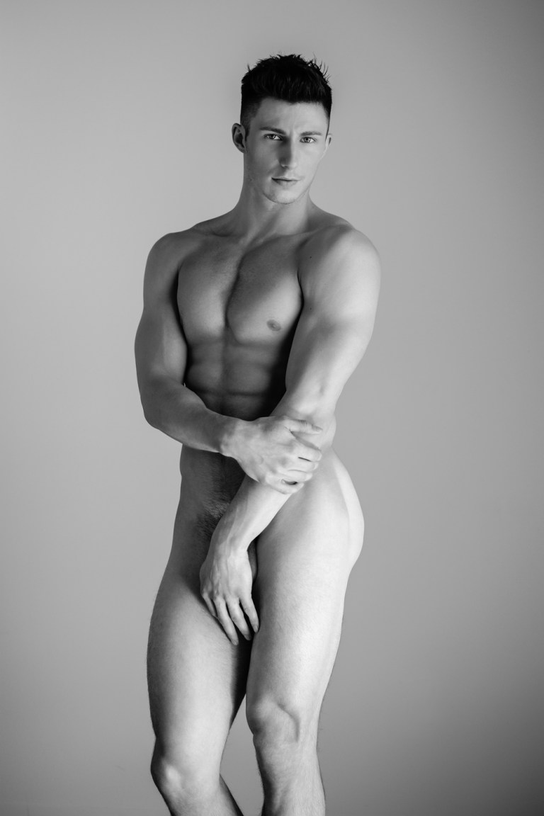 """In an Exclusive for Fashionably Male we presents dashing newcomer Cam Allison by talented Calvin Brockington, in """"Rhaw"""" we can appreciate the beautiful aesthetic B/W session a beautiful natural toned body that Cam possess, he's the new muse on board by Brockington. Cam is endearing with an endless charm as he poses for a personable portrait series by Calvin Brockington."""