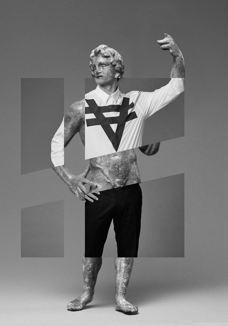 Seven Rays is a new clothing brand based in London, which offers basic but with an original seal, using their conceptual logo printed on shirts, glorious proposal comes with its Fall/Winter 2015 campaign featuring model BJ McNeill mixing figures of mythological gods with photography by Darren Skene and art-directed by Andrew Armstrong. Make-up by Abbie May Hopkins.