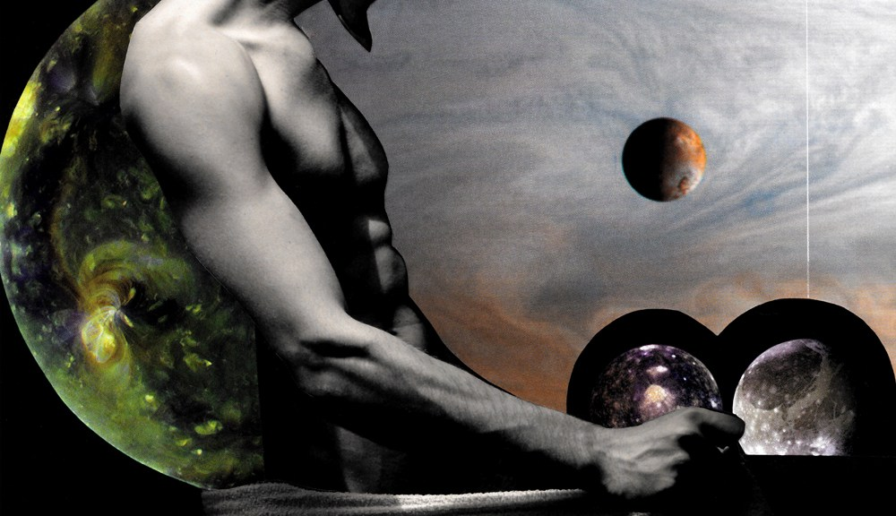 Space Odyssey is the new art experimental photographer by Srdjan Sveljo adding art collage by artist Maxwell N. Burstein.