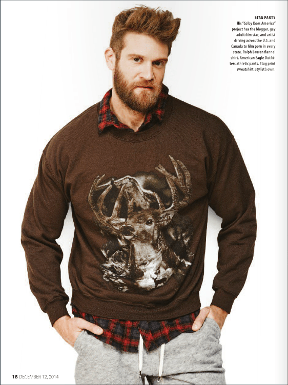 Winter is the perfect time of year to cuddle up with a bearded, flannel-wearing stud, and no one embodies the Sexy Lumberjack archetype better than Colby Keller, photographed by Christopher Logan for Next Magazine.