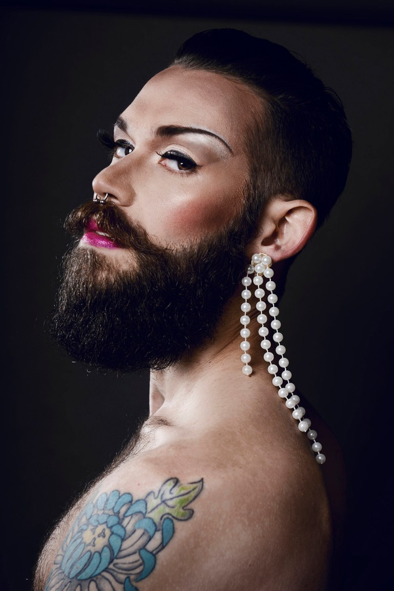 """We are very pleased to present this amazing work of Eran Levi exposing """"Gender Blender"""" a contrast between this sexy manly men and drag make up, impulsing gender identity and sexuality,its basically shot for Purim, the Jewish Halloween celebrating this March 4th and 5th. This is a blast, original stunning work."""