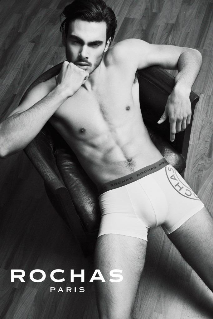 Fran M. at @FashionArtMGMT  is the new body and face of last Rochas Paris Underwear Campaign. This young spanish model has been discovered last season by Roberto Verino on MBFWM. After that he has been working in Milan and Shanghai as one of the emerging models on the international sceane. Fran brings a new manhood by the racial streght of his face and his perfect body.For these reasons he has been chosen to star in this international campaign shooted by Jose Alfaro.