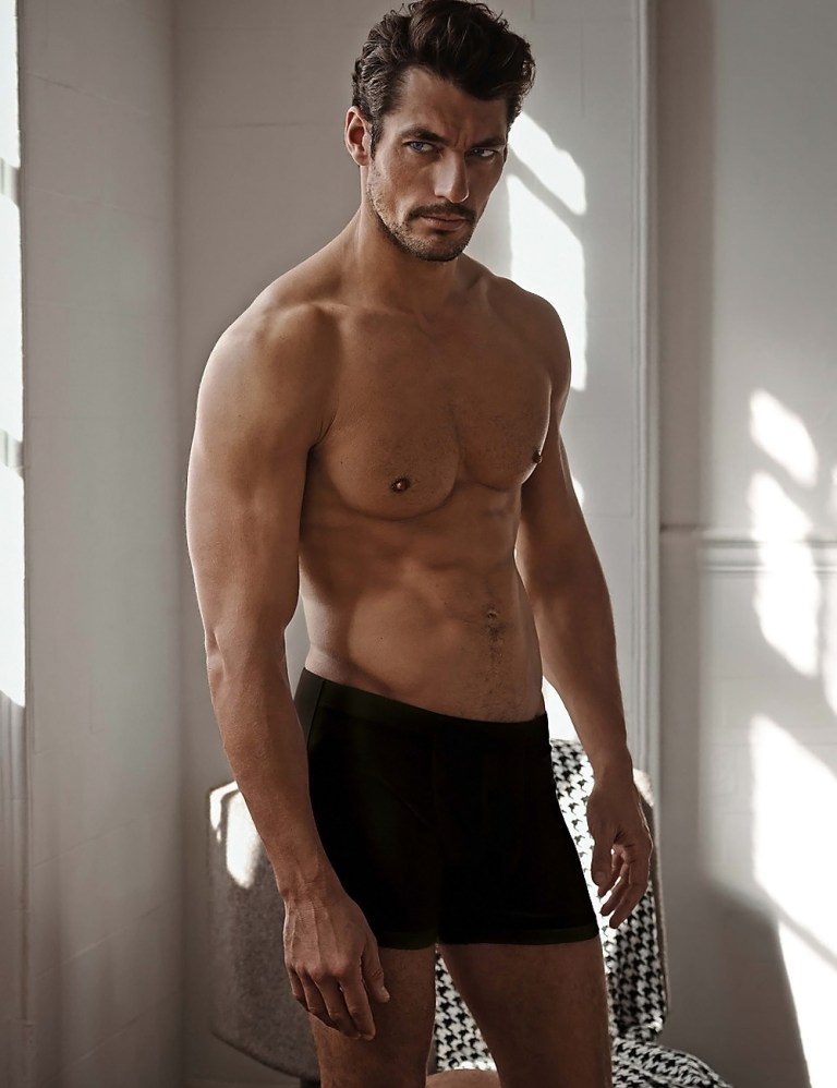 'Marks & Spencer' releases more images from its latest 'Autograph' underwear collection featuring supermodel David Gandy, captured by photographer Mariano Vivanco.