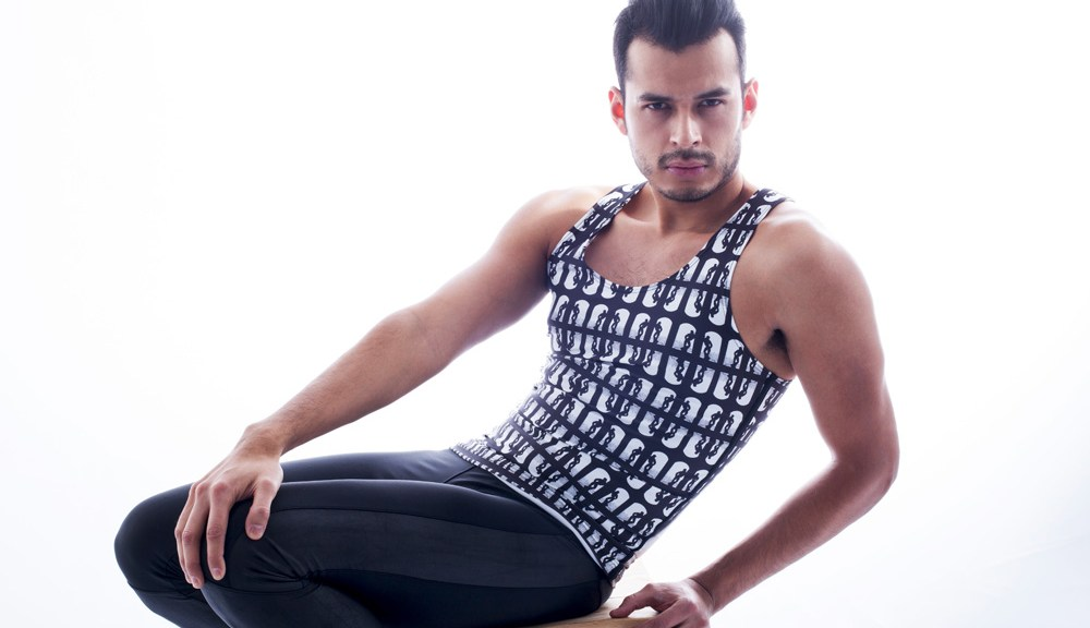"Mexican style expert and queer blogger Jorge Gallegos aka ""manchic"" features some of his favorite pieces from collection. From skin-tight leggings that are very much alike to the fetish outfits worn by Tom's characters plus a lightweight mesh tank top with a full-length print of Tom's art. The alluring pictorial was taken by photographer Margaret Rowland. I include a few images from the pictorial below with the full editorial on www.iammanchic.com Credits: Fashion - Rufskin @rufskin Photos - Margaret Rowland @margaretrownlandphoto Model/Creative Director - Jorge Gallegos @manchic"