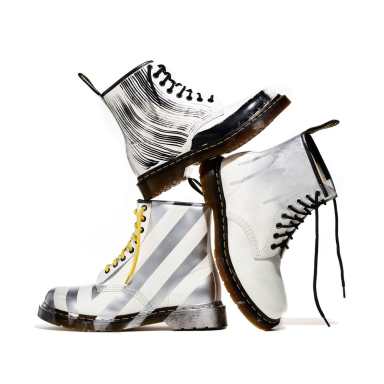Dr. Martens​ x Christopher Lee Sauvé​ presents 10 limited edition, hand painted pairs od Dr. Martens for Designers Against Aids. Now Available! http://christopherleesauve.com