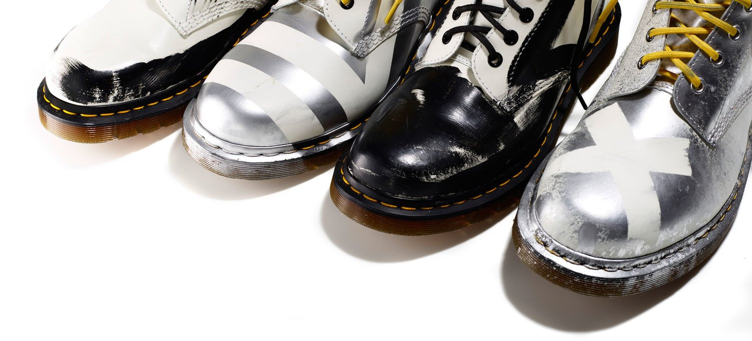 Dr. Martens x Christopher Lee Sauvé presents 10 limited edition, hand painted pairs od Dr. Martens for Designers Against Aids. Now Available! http://christopherleesauve.com