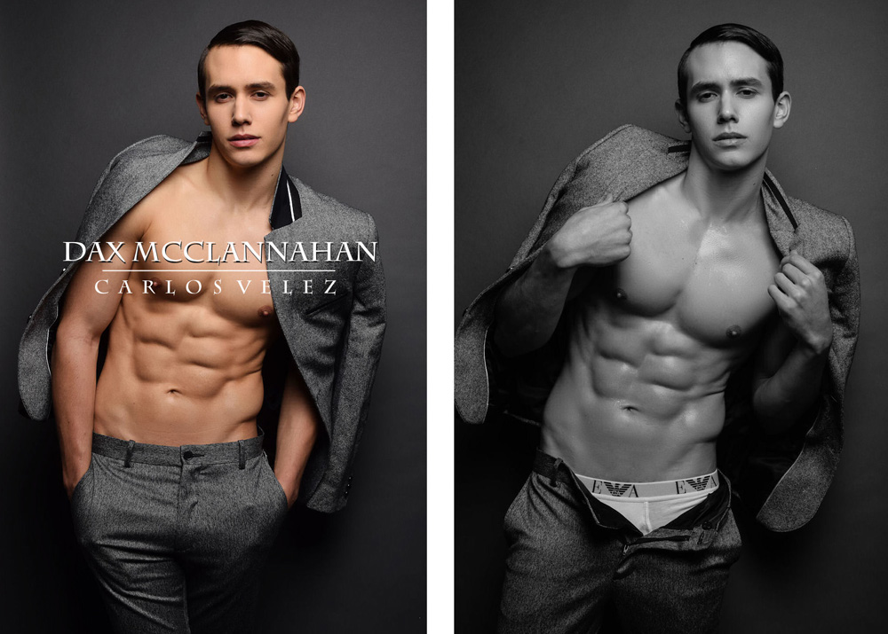Presenting the new work of photographer Carlos Velez with beautiful male model Dax McClannahan at Evolution Model Management at Miami.
