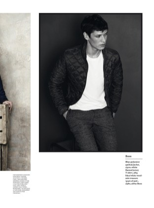 Esquire UK April 2015 presents The New Casual Photography by Tomas Falmer and styling by Catherine Hayward. Models: Arthur Gosse at SUPA Models and Aaron at Select Models.
