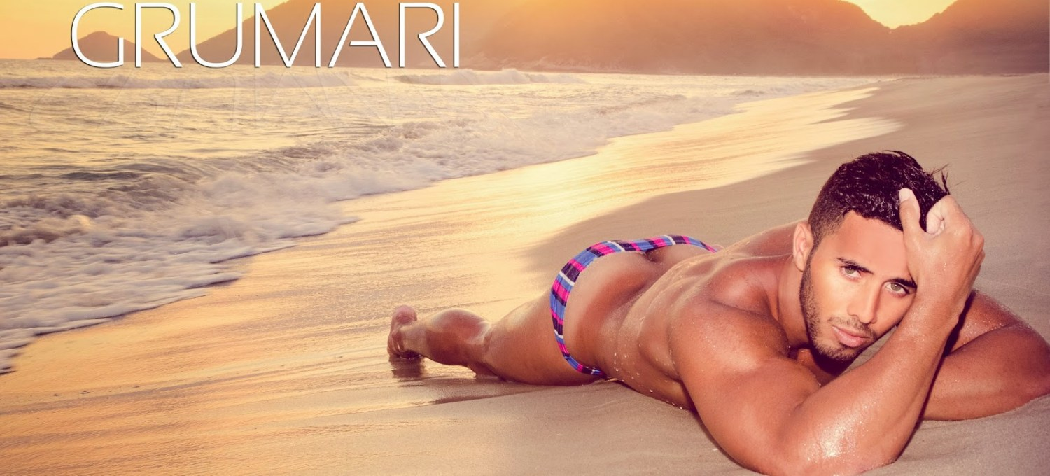 Definitely this is a beautiful work by Photographer Gaston Barrios and sexy male model Ramón Jorge a Brazilian stunner modeling at Grumari Beach at Rio de Janeiro. Beyond good, this is our favorite beach session we've ever seen in years.