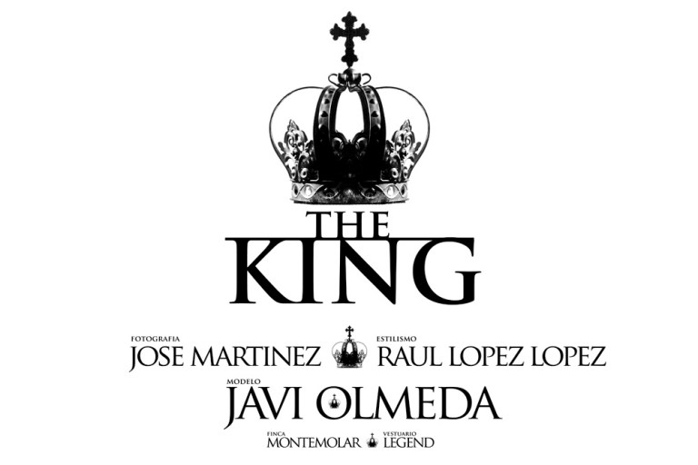 """""""The King"""" captured by Spanish photographerJose Martinez modeling and posing like a real king Javi Olmeda, Styled by Raul Lopez Lopez."""