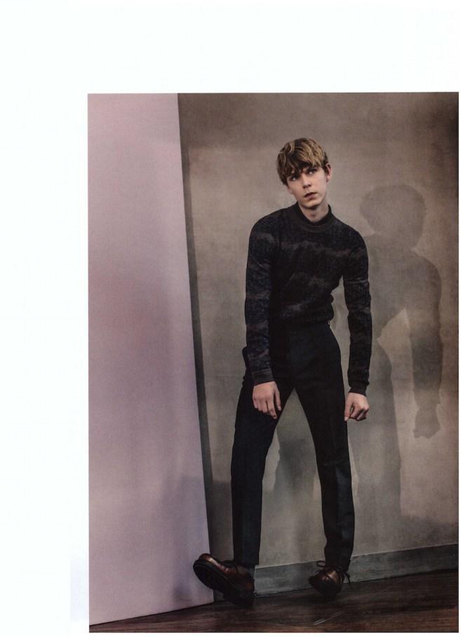"Paris fashion magazine DSECTION #13 presents ""Pride"" shot by Thomas Goldblum and stars model Simon Fitskie."
