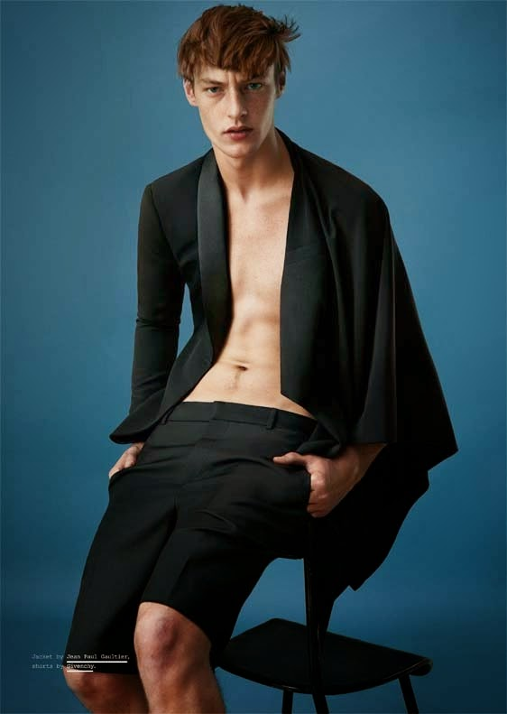 Model Roberto Sipos featuring in the new work by Paul Scala for Manuscript Magazine.